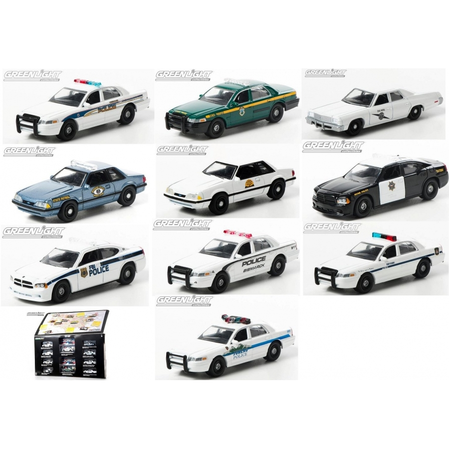 Greenlight Quot Hot Pursuit Quot 10 Car Set