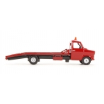 Red Ford Transit MKI beavertail tow truck